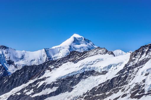 Swiss glacier view