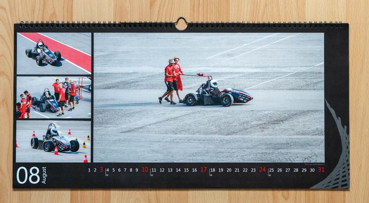 August Motiv des infinity raching Kalenders 2014