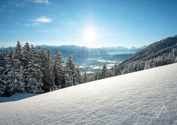 Winterbeginn im Allgäu
