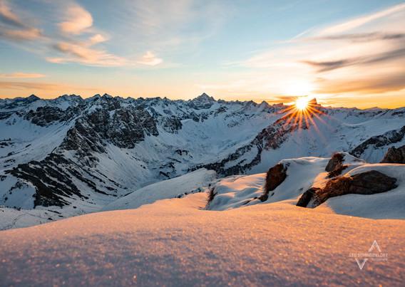 Winterlicher Blick auf die Tannheimer Alpen