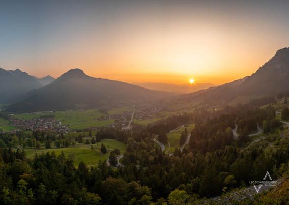 Oberjochpass zum Sonnenuntergang