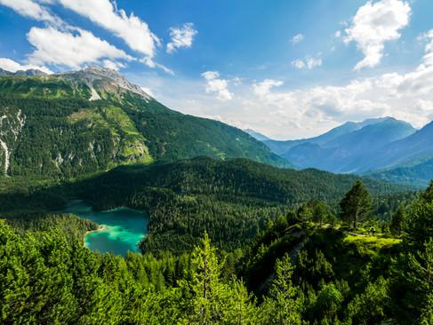 Blindsee and its mountain bike trail