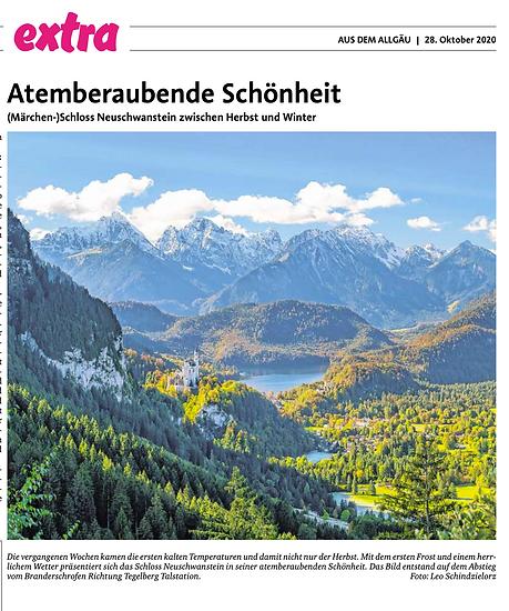 2020.10.28 Extra Zeitungsblatt Neuschwan