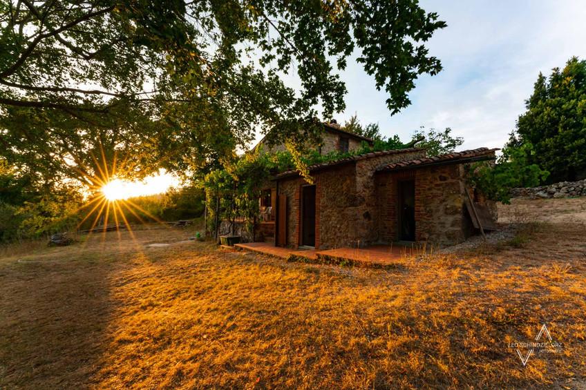 Ferienhaus in der Toskana zum Sonnenuntergang