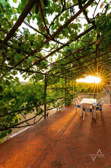 Ferienhaus in der Toskana Terrasse