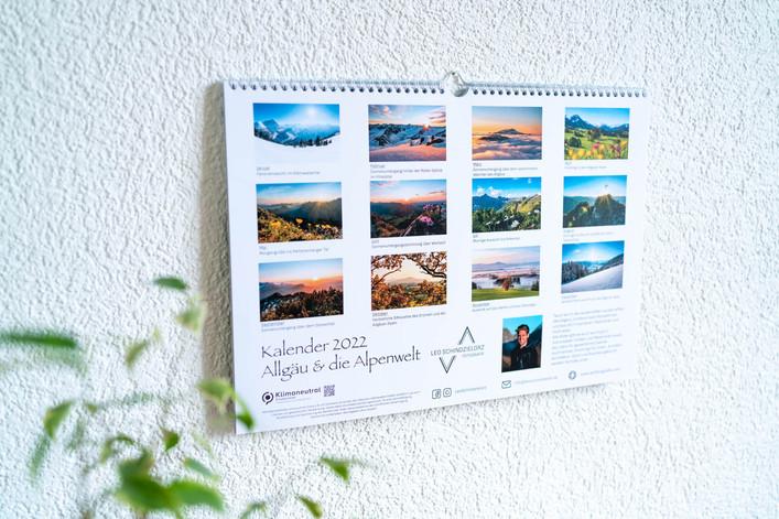 Vorschaublatt Allgäu und die Alpenwelt Kalender 2022