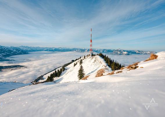 Winterliche Aussicht auf den Grünten