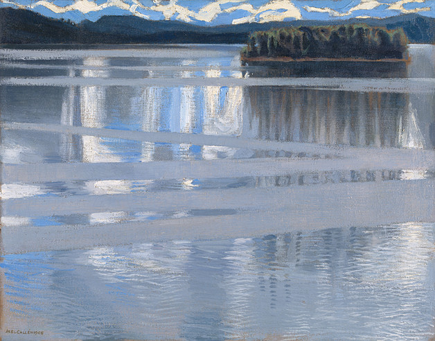 Copying a Axeli Gallen-Kallela painting.