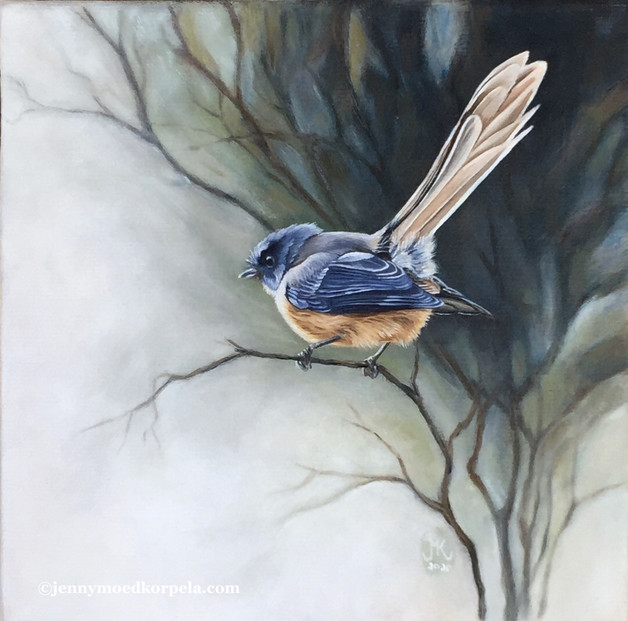 Fantail painting.