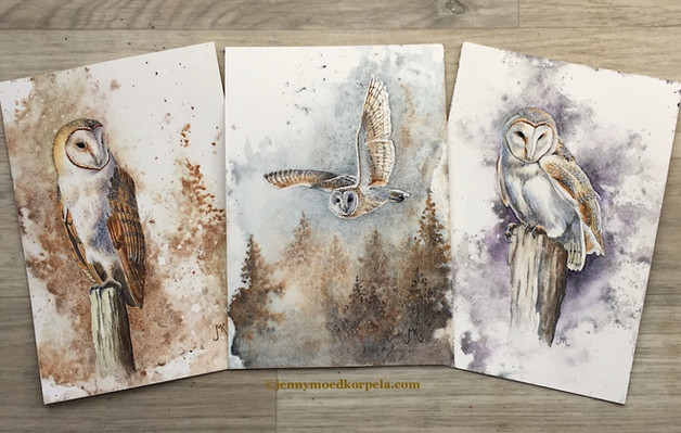 Postcards watercolours.