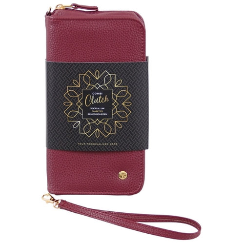 Clutch&Care diabetestasje - Combi Clutch bordeaux