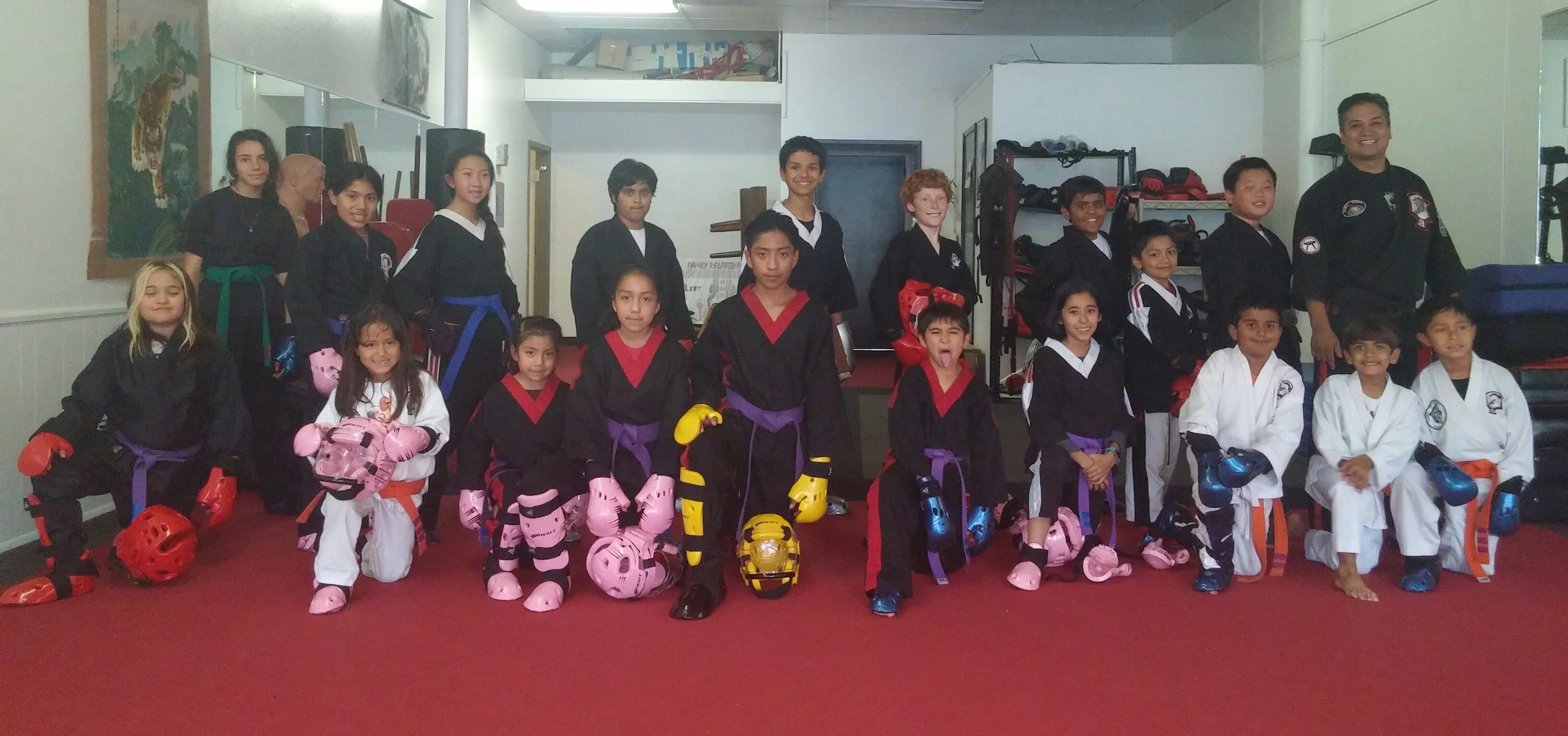 Kids sparring class