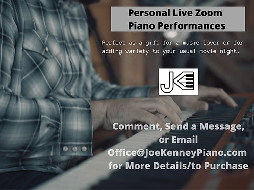 1.5 to 2 Hour Live Zoom Piano Performance