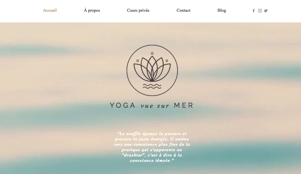 Sports et Loisirs website templates – Studio Yoga