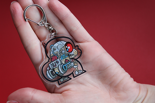 Robobuttguy Acrylic Keychain