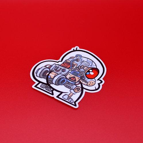 Robobuttguy Sticker