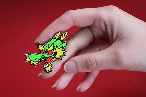 "Tonkotsu the Dragon 2"" Pin"