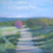 Field with Shadows-11x11 oil-$395
