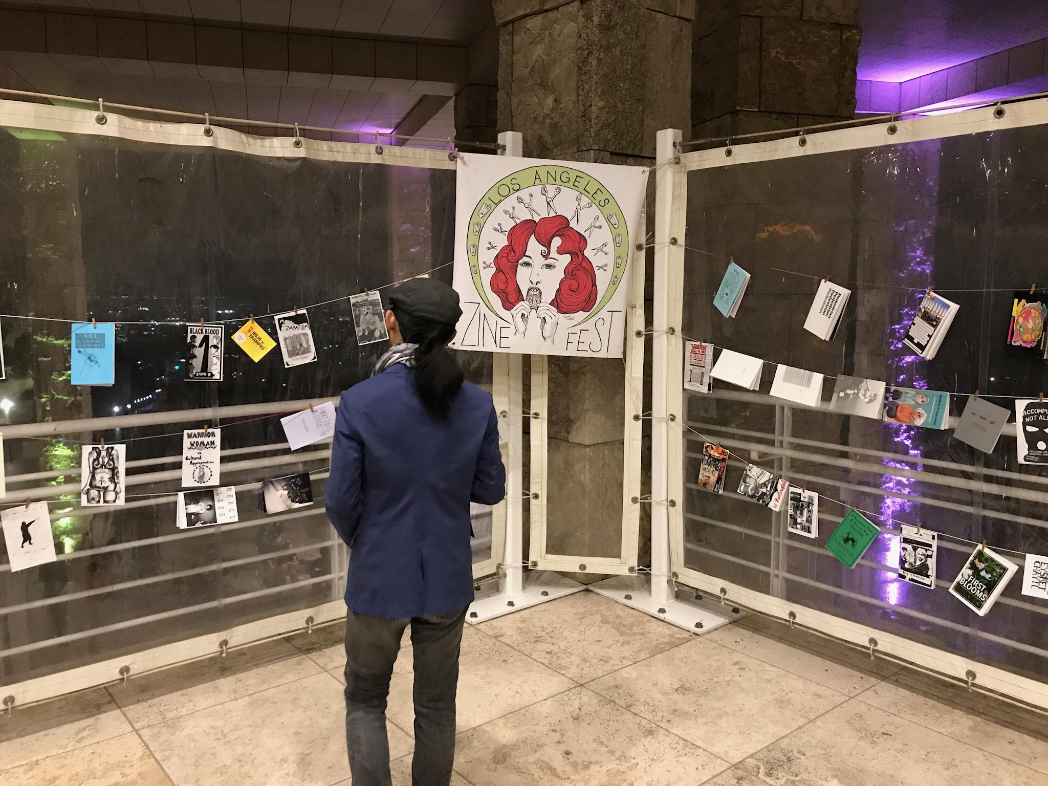 LA Zine Fest Moving Library