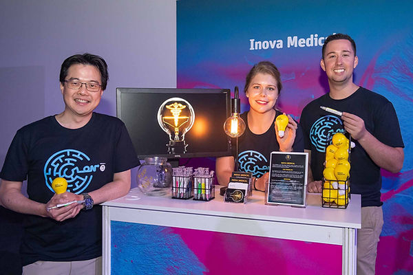 Inova Medical at CSIRO ON Demo Dy 2019. Ming Khoon Yew, Melanie White, Alex Hayes