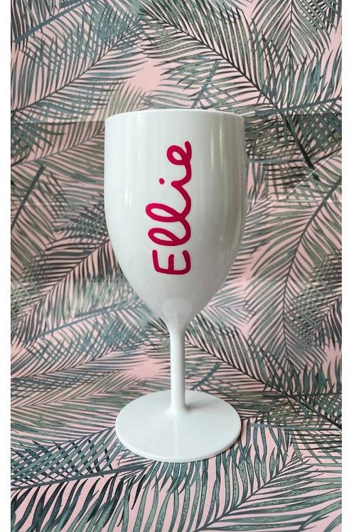 'Island  Style' Personalised White Wine Glass