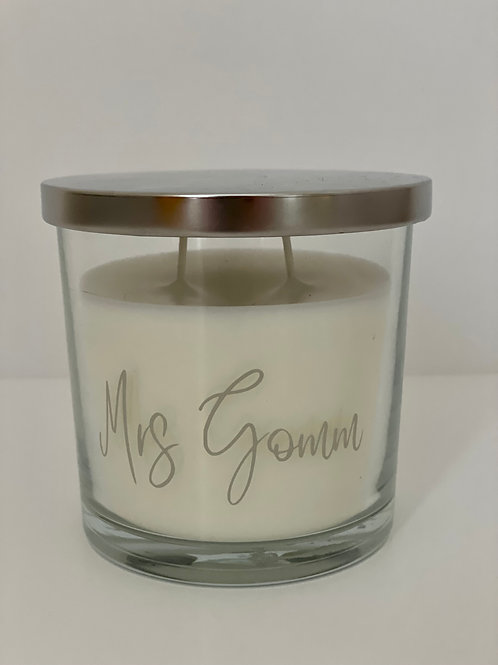 Personalised Double Wick Candle