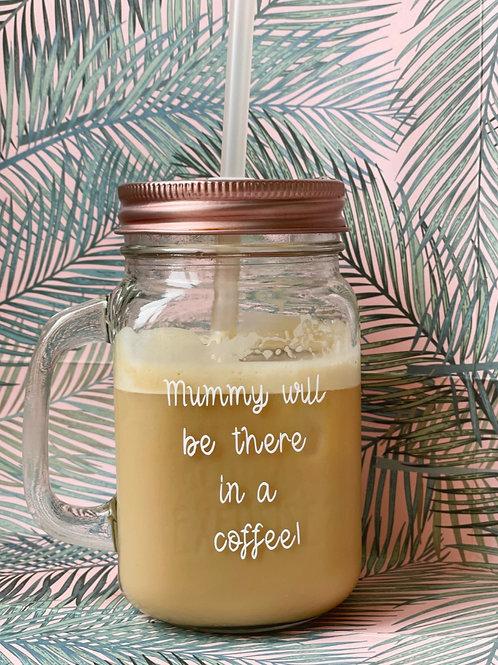 Personalised 'Mummy Slogan' Glass Drinking Jar