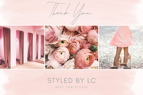 'Thank You' Gift Certificate
