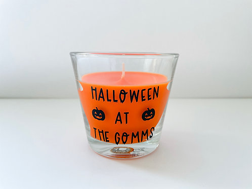 Personalised Halloween Candle - Pumpkin Spice Scent