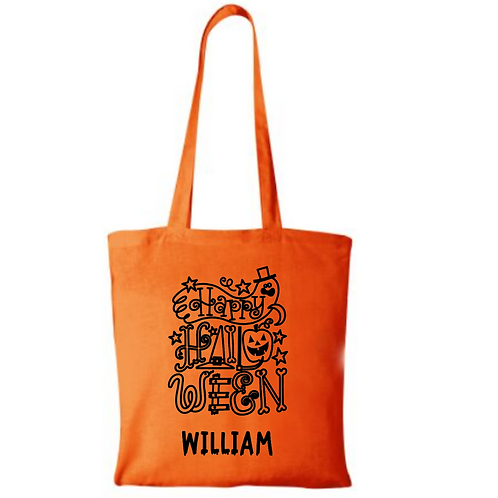 Personalised Halloween Bag made from 100% recycled cotton shopping bag