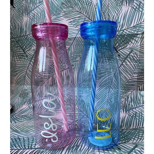 Personalised Milkshake Bottle - Pink/Blue