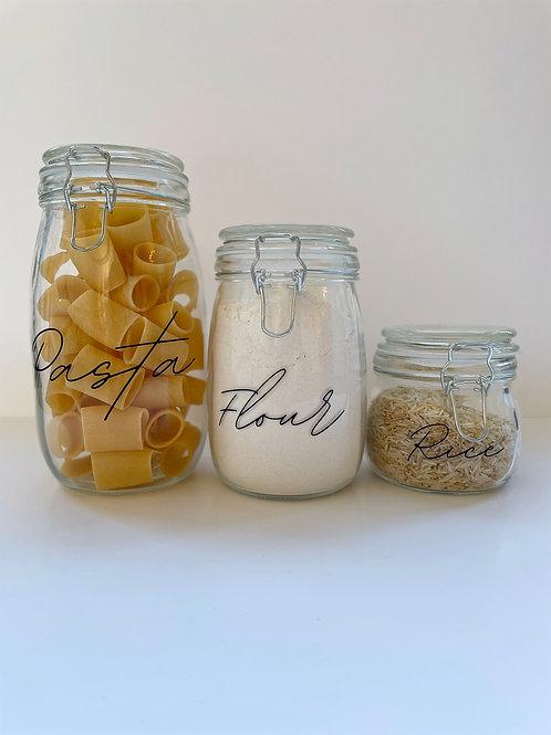 Personalised Pantry Jars