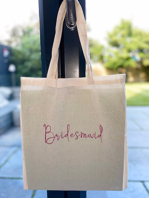Bridesmaid Bag made from 100% recycled cotton shopping bag