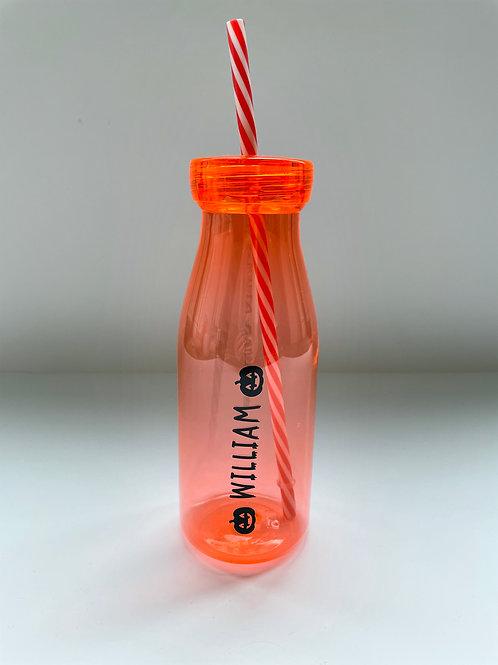 Personalised Halloween Bottle - Pink/Blue