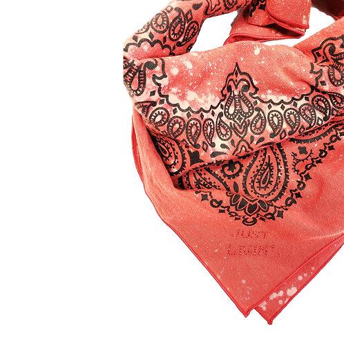 Bleach Dyed Paisley Bandana-Red