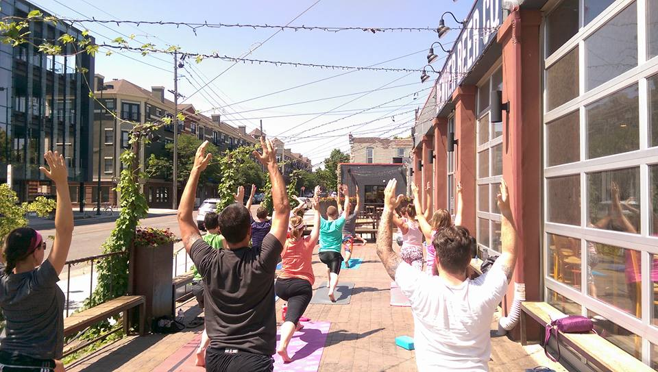 Wander Yoga at Denver Beer Company