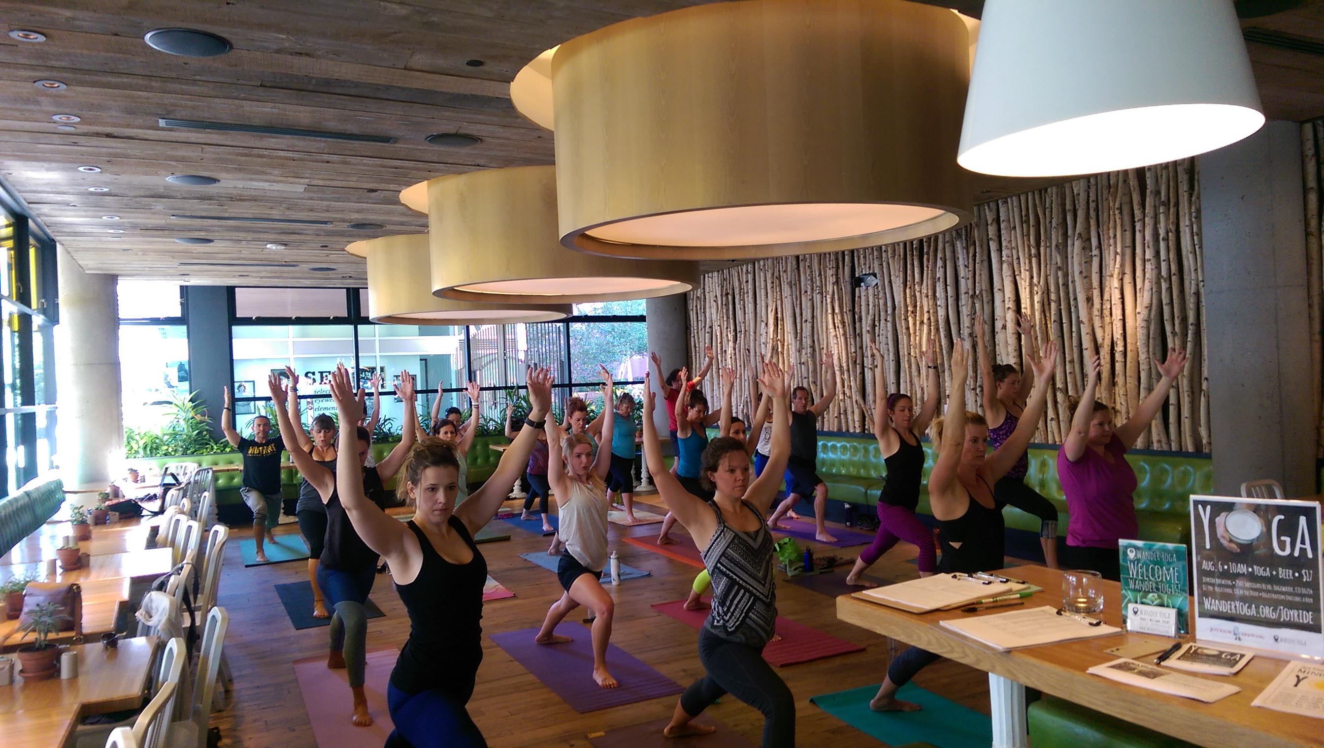 Wander Yoga at True Food Kitchen