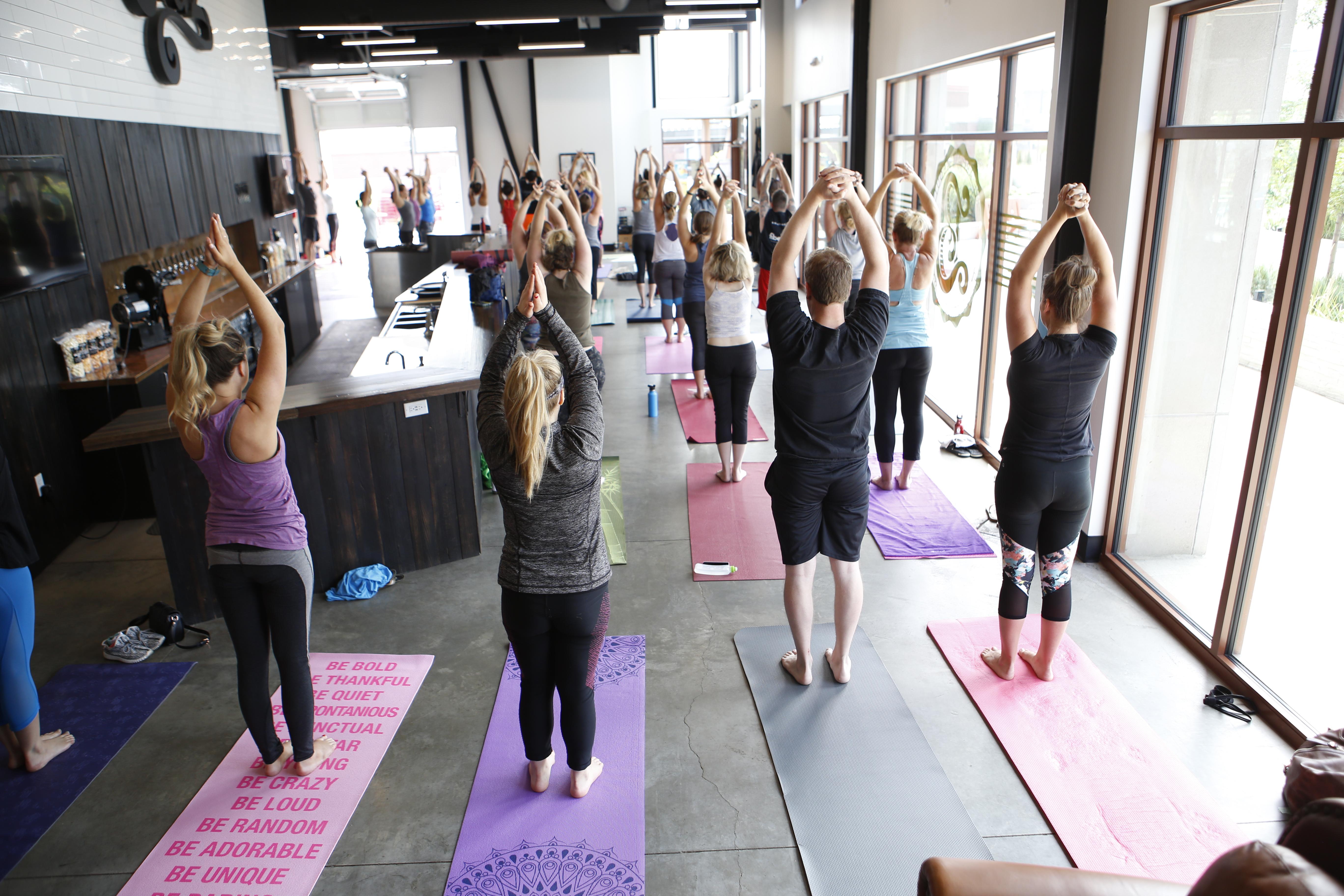 Wander Yoga at Bruz Beers