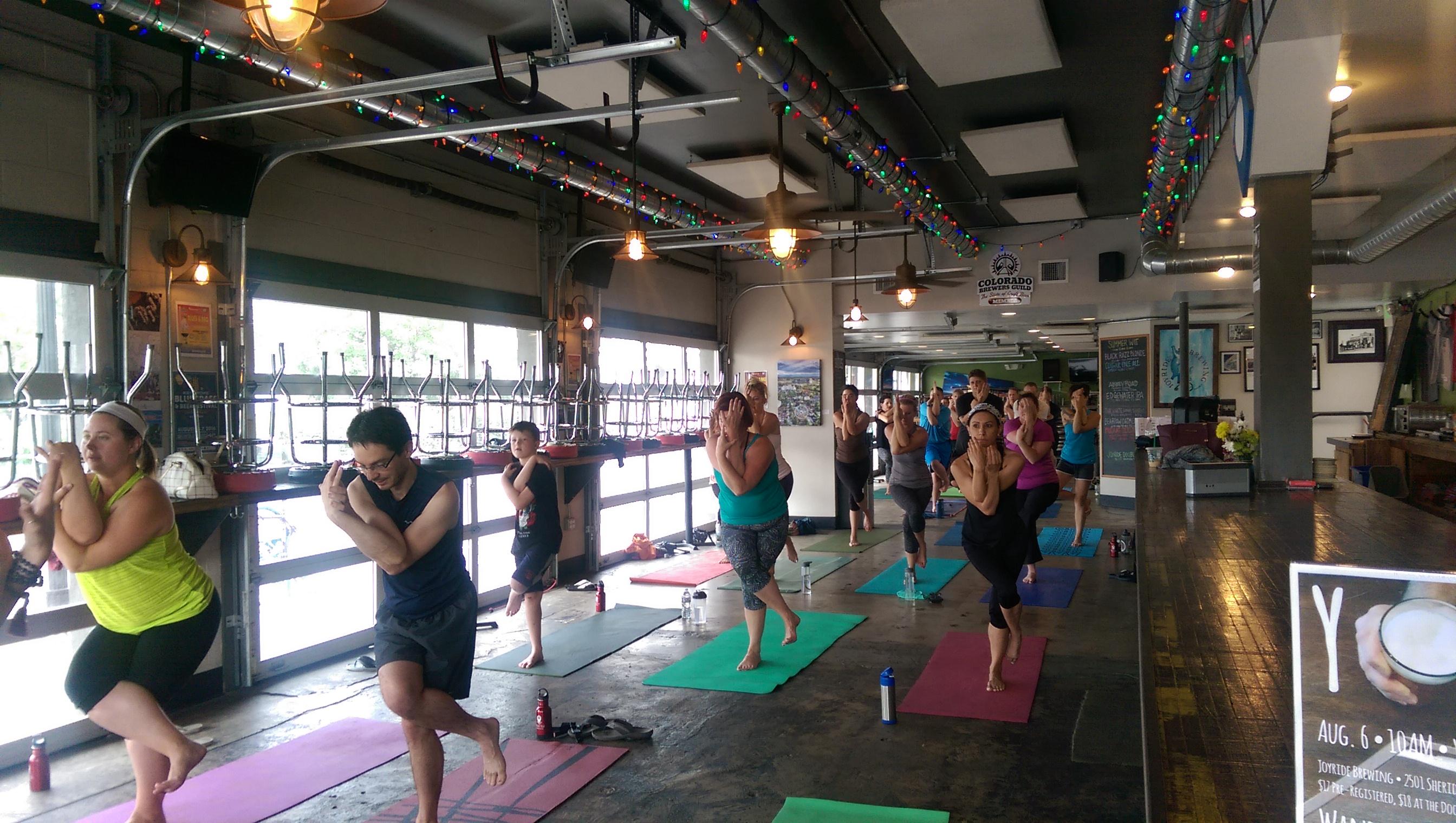Wander Yoga at Joyride Brewing