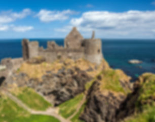 Dunluce Castle, Northern Ireland, at the