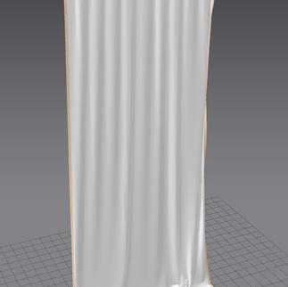 300x140cm curtain test