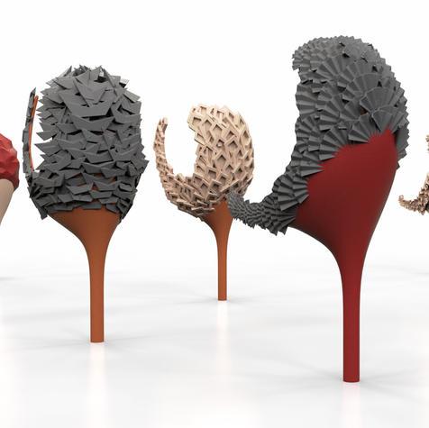 3D render of the heels