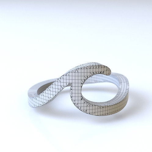 Simple Wave Ring 3D model