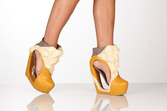 Studio photograph of finished 3D shoe