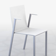 Rendered image of the armrest chair