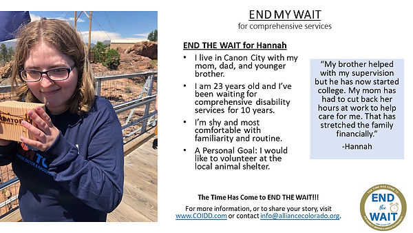 END MY WAIT Hannah from Canon City in Fr
