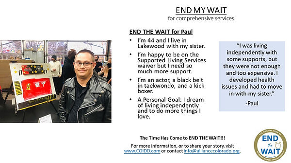 END MY WAIT Paul from Lakewood in Jeff C