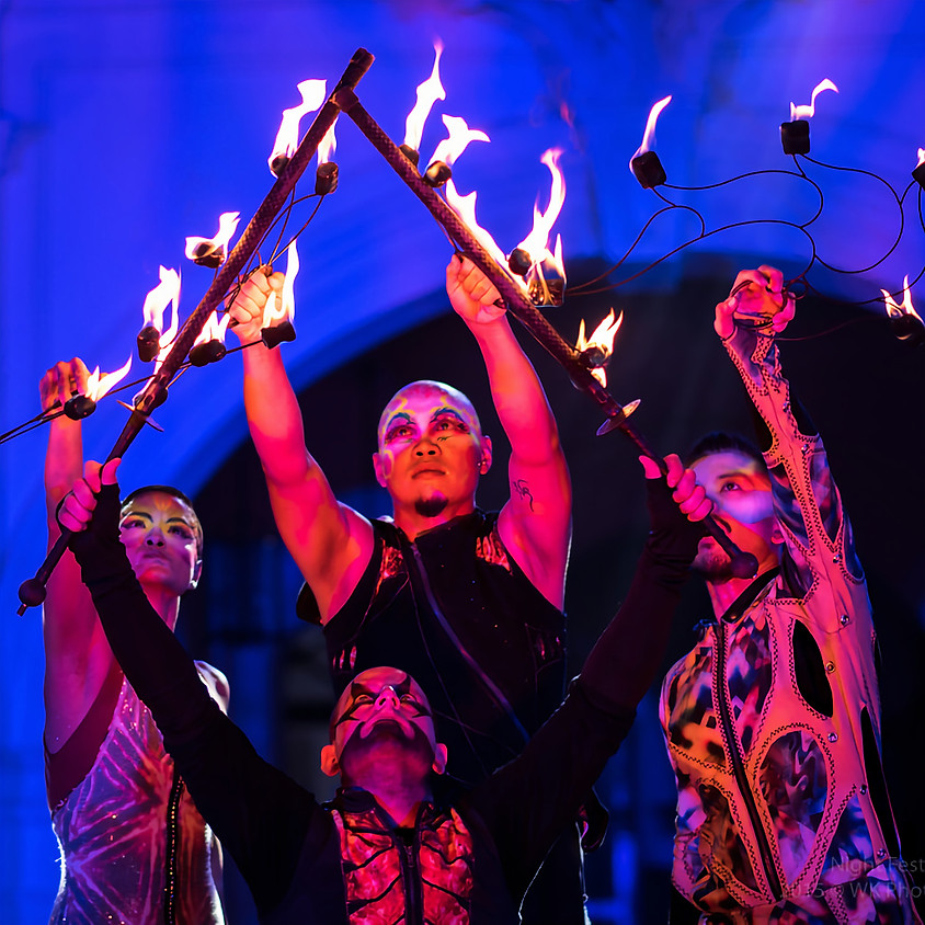 Show & Jam #2 Opening Act: Fire Dance + Live Electro-Tribal Groove Music | Grant Bosnick and Starlight Alchemy