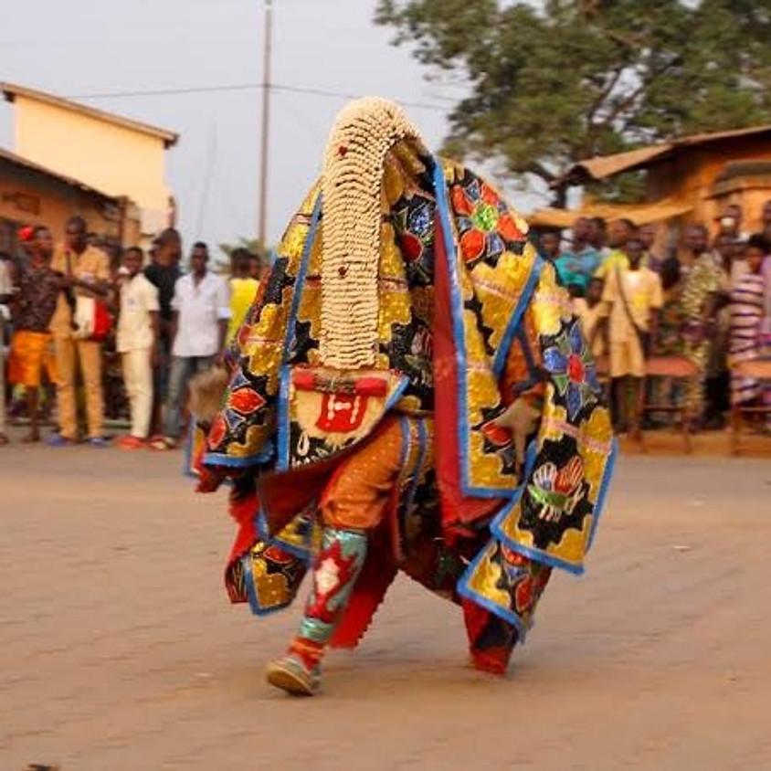 A Moment with the Egúngún ( Masquerade )   Adebajo Oluwafemi Israel