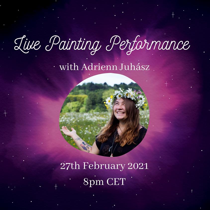 Live Painting Performance   Adrienn Juhasz